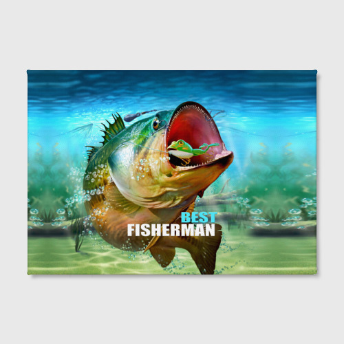 Холст прямоугольный  Фото 02, Лучший рыбак