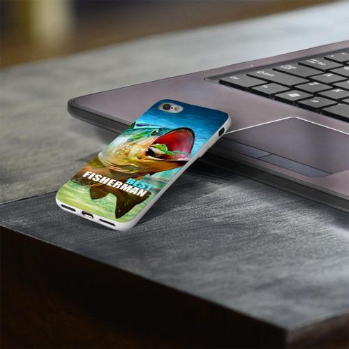Чехол для Apple iPhone 8 силиконовый глянцевый  Фото 03, Лучший рыбак
