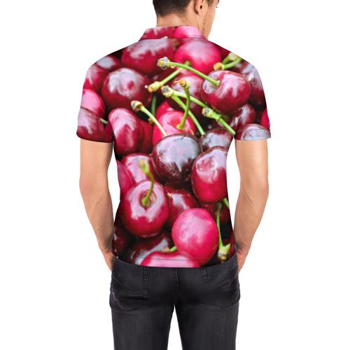 Мужская рубашка поло 3D  Фото 04, Черешня