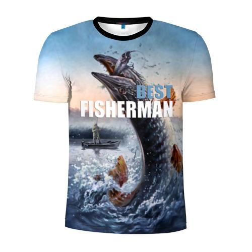 Мужская футболка 3D спортивная Лучший рыбак Фото 01