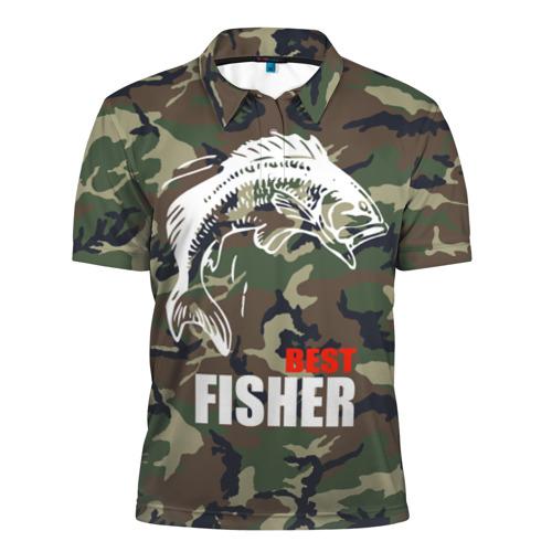 Мужская рубашка поло 3D  Фото 01, Лучший рыбак