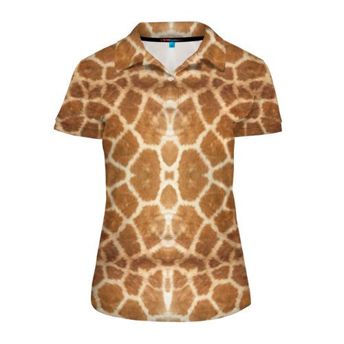 Женская рубашка поло 3D  Фото 01, Шкура Жирафа