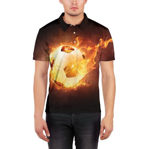 Мужская рубашка поло 3D  Фото 03, Мяч