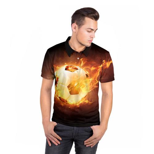 Мужская рубашка поло 3D  Фото 05, Мяч