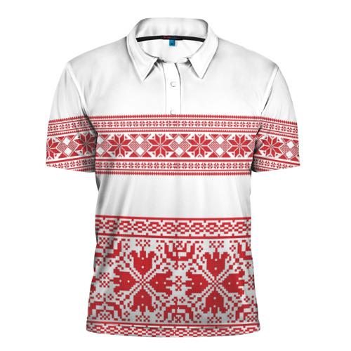 Мужская рубашка поло 3D  Фото 01, Узор3