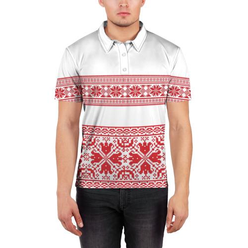 Мужская рубашка поло 3D  Фото 03, Узор3