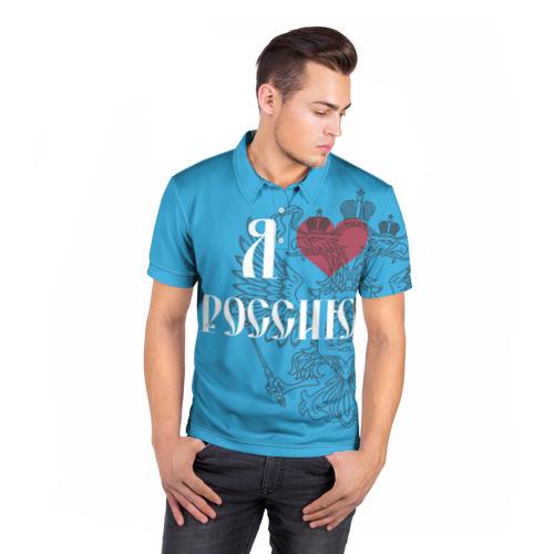 Мужская рубашка поло 3D  Фото 05, Я люблю Россию