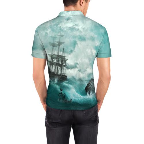 Мужская рубашка поло 3D  Фото 04, Море