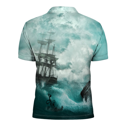 Мужская рубашка поло 3D  Фото 02, Море