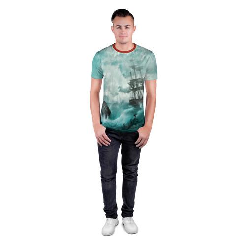Мужская футболка 3D спортивная Море Фото 01