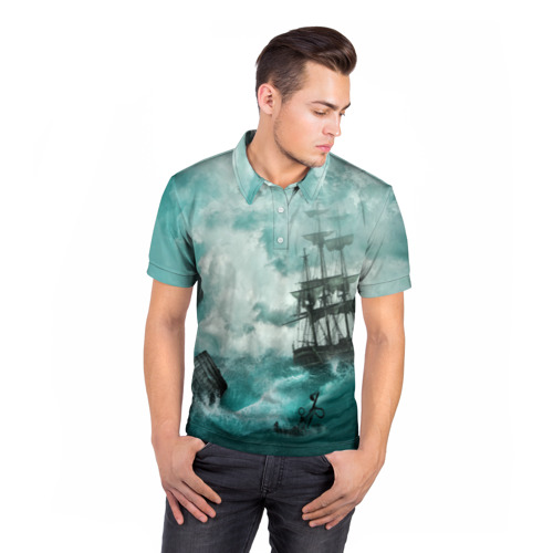 Мужская рубашка поло 3D  Фото 05, Море