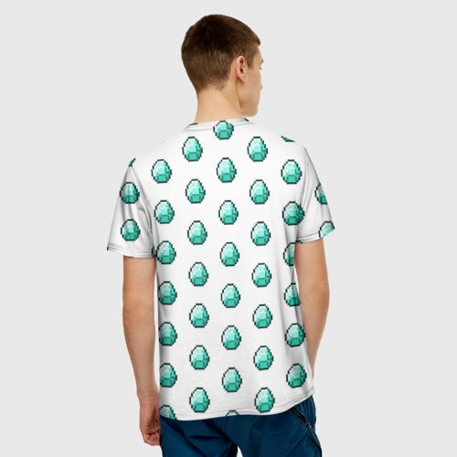 Мужская футболка 3D  Фото 02, Minecraft diamond