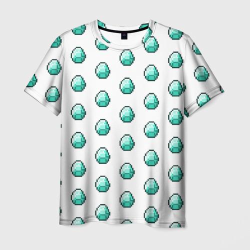 Мужская футболка 3D  Фото 03, Minecraft diamond