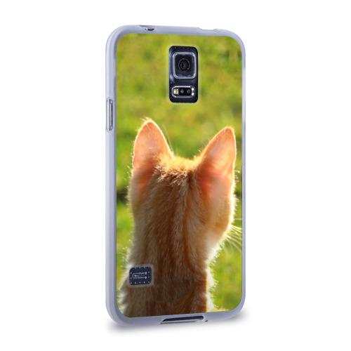 Чехол для Samsung Galaxy S5 силиконовый  Фото 02, Котенок спина