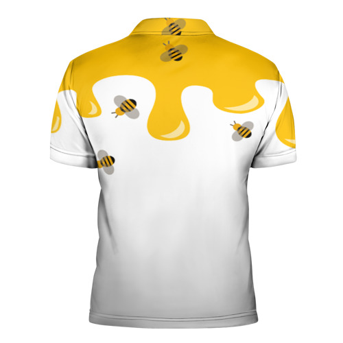 Мужская рубашка поло 3D  Фото 02, Медведь в мёде