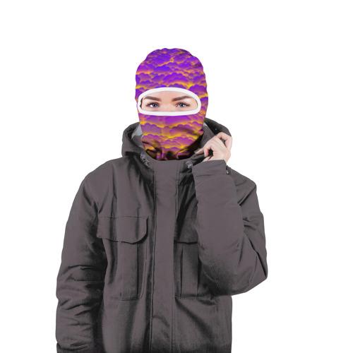 Балаклава 3D  Фото 04, Фиолетовые облака