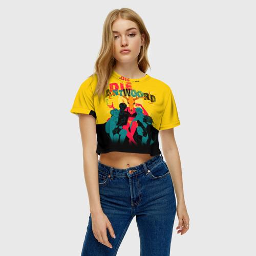 Женская футболка 3D укороченная  Фото 04, Die Antwoord 1