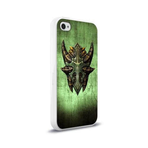 Чехол для Apple iPhone 4/4S силиконовый глянцевый  Фото 02, Чешуйчатый щит Дракона