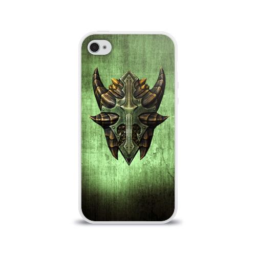 Чехол для Apple iPhone 4/4S силиконовый глянцевый  Фото 01, Чешуйчатый щит Дракона