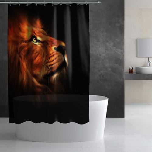 Штора 3D для ванной Lion Фото 01