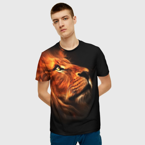 Мужская футболка 3D Lion Фото 01