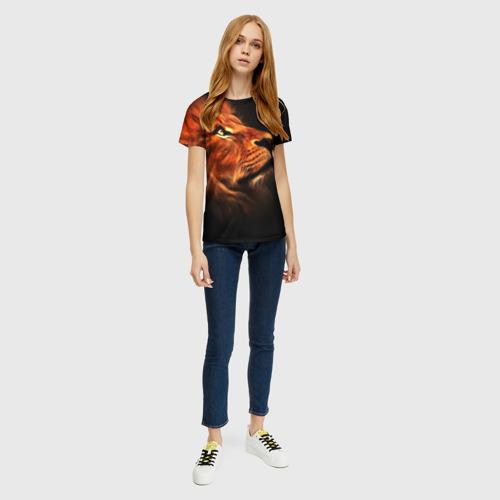 Женская футболка 3D Lion Фото 01