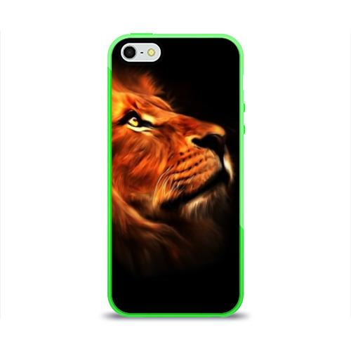 Чехол для iPhone 5/5S глянцевый Lion Фото 01