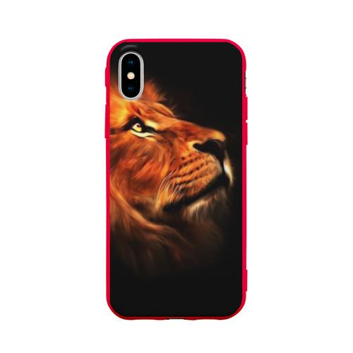 Чехол для iPhone X матовый Lion Фото 01