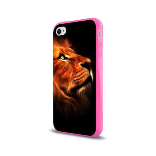 Чехол для Apple iPhone 4/4S силиконовый глянцевый Lion Фото 01