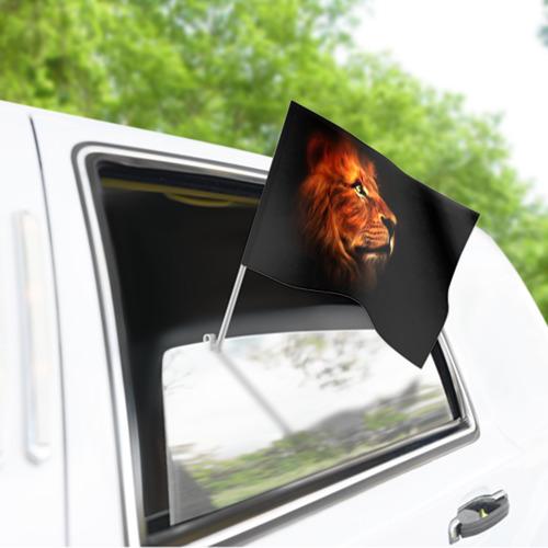 Флаг для автомобиля Lion Фото 01
