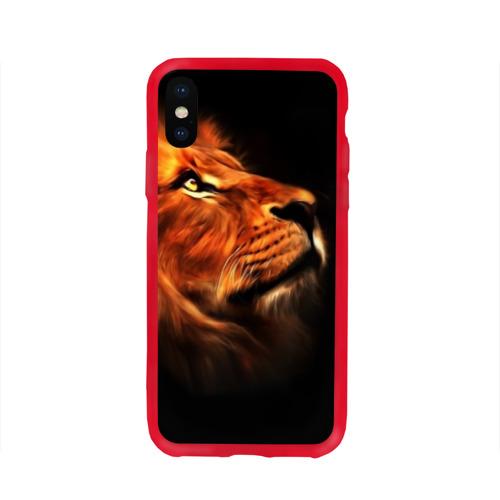 Чехол для iPhone X глянцевый Lion Фото 01