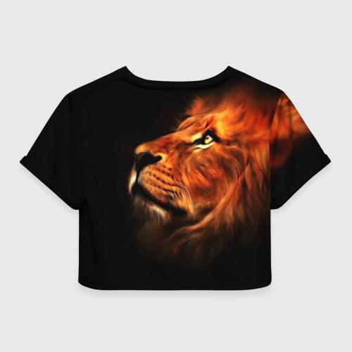 Женская футболка Crop-top 3D Lion Фото 01