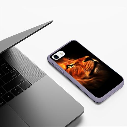 Чехол для iPhone 7/8 матовый Lion Фото 01