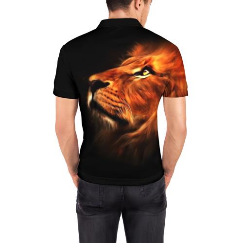 Мужская рубашка поло 3D  Фото 04, Lion
