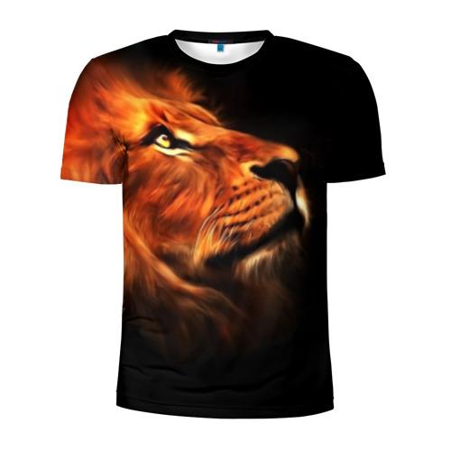 Мужская футболка 3D спортивная Lion