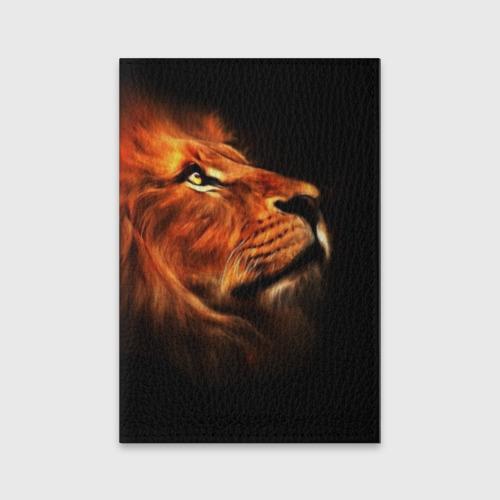 Обложка для паспорта матовая кожа Lion Фото 01