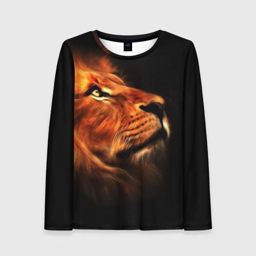 Женский лонгслив 3D Lion Фото 01