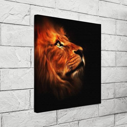 Холст квадратный Lion Фото 01