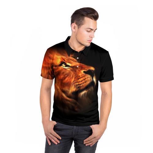 Мужская рубашка поло 3D  Фото 05, Lion