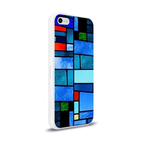 Чехол для Apple iPhone 5/5S силиконовый глянцевый Мозаичная абстракция Фото 01