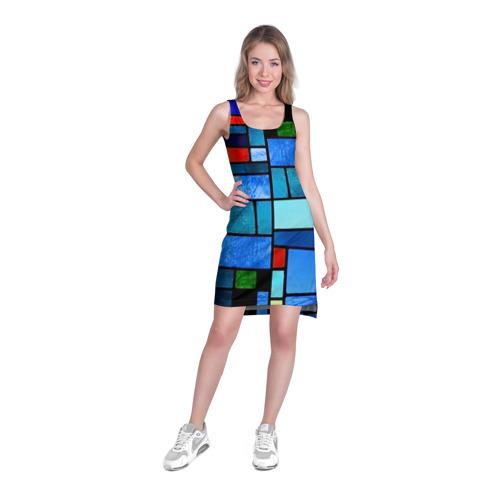 Платье-майка 3D  Фото 03, Мозаичная абстракция