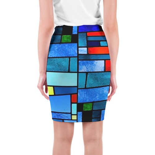 Юбка 3D  Фото 02, Мозаичная абстракция