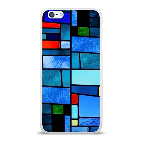 Чехол для Apple iPhone 6Plus/6SPlus силиконовый глянцевый Мозаичная абстракция Фото 01