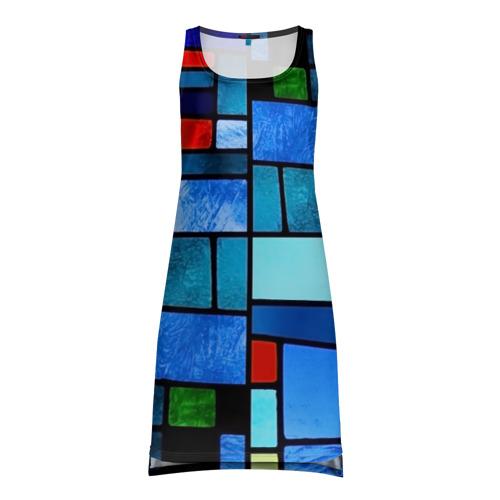Платье-майка 3D  Фото 01, Мозаичная абстракция