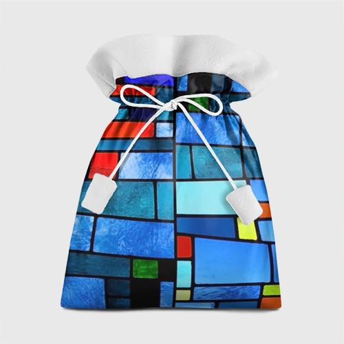 Подарочный 3D мешок Мозаичная абстракция Фото 01