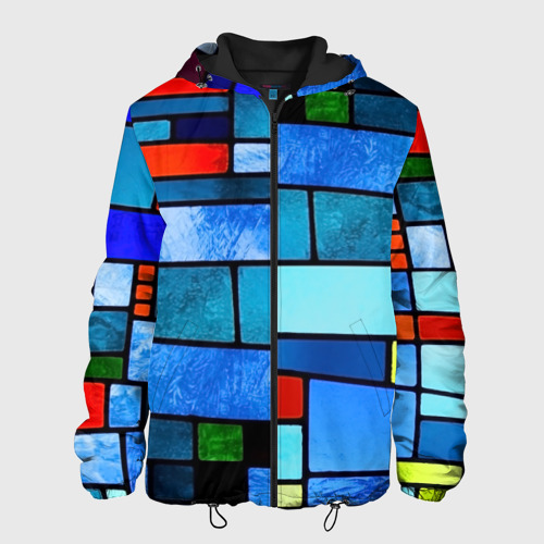 Мужская куртка 3D Мозаичная абстракция Фото 01