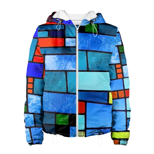 Женская куртка 3D  Фото 01, Мозаичная абстракция