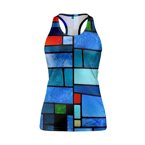 Женская майка 3D спортивная Мозаичная абстракция Фото 01