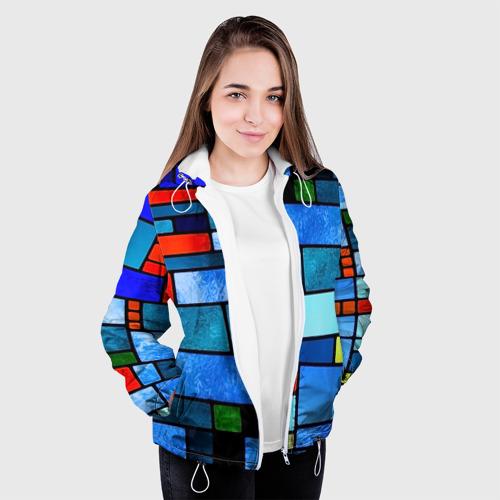 Женская куртка 3D  Фото 04, Мозаичная абстракция