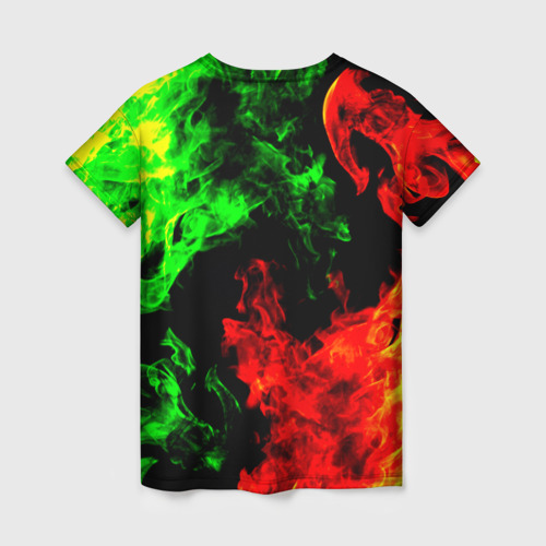 Женская футболка 3D Огненная битва Фото 01